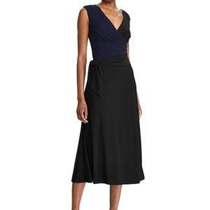 Lauren Ralph Lauren Self Tie Midi Dress